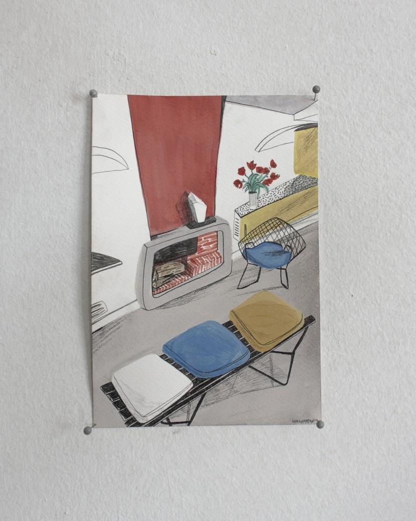 interior pequeño 60s